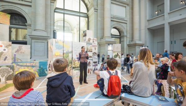 Storytelling Berlin Christine Lander erzählt von A.v.Humboldts Südamerikareise in der Reihe Durchlüften im Humboldt Forum Berlin